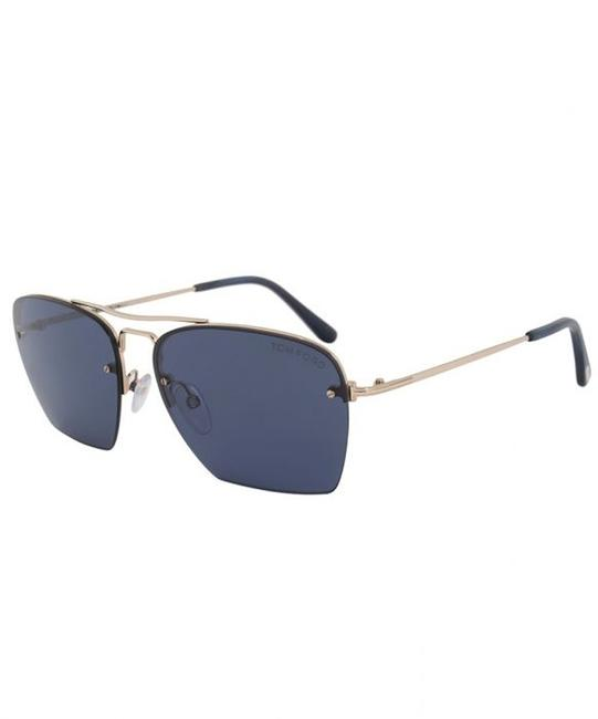 Tom Ford Ft0504 28v Gold / Blue Walker Sunglasses Tom Ford Ft0504 28v Gold / Blue Walker Sunglasses Image 1