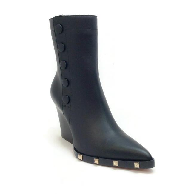 Sonia Rykiel Black Leather Snap Stud Embellished Boots/Booties Size EU 38 (Approx. US 8) Regular (M, B) Sonia Rykiel Black Leather Snap Stud Embellished Boots/Booties Size EU 38 (Approx. US 8) Regular (M, B) Image 1