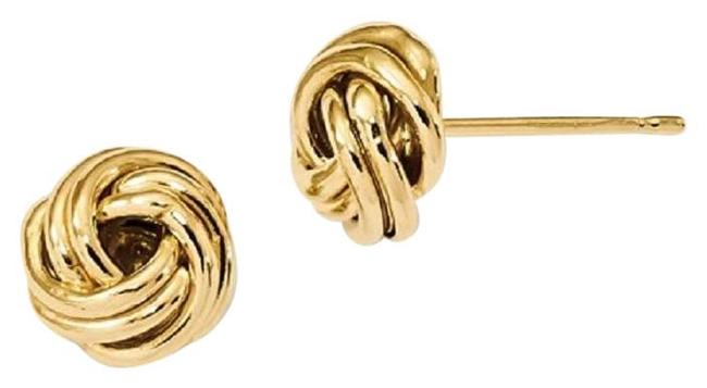 Apples of Gold 14k Yellow Love Knot Earrings Apples of Gold 14k Yellow Love Knot Earrings Image 1
