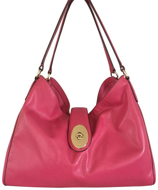 Item - Shoulder Carlyle Madison Slouch Hot F37637 Pink Leather Hobo Bag