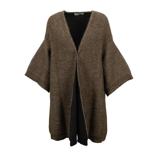 Preload https://img-static.tradesy.com/item/26054545/valentino-brown-wool-flare-sleeve-cardigan-size-12-l-0-0-650-650.jpg