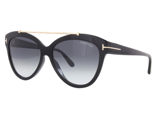 Tom Ford Ft0518 01b Shiny Black Livia Sunglasses Tom Ford Ft0518 01b Shiny Black Livia Sunglasses Image 1