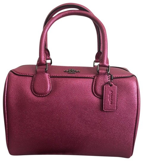 Preload https://img-static.tradesy.com/item/26054732/coach-crossbody-pink-leather-metallic-magenta-satchel-0-3-540-540.jpg