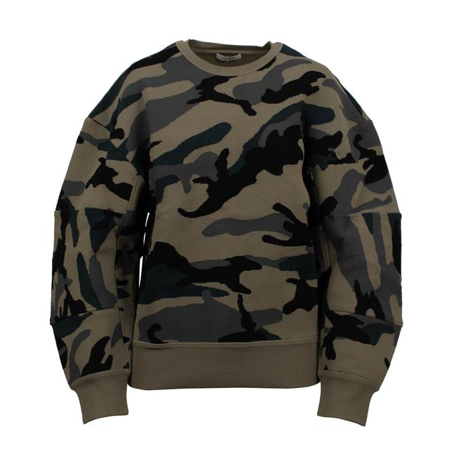 Preload https://img-static.tradesy.com/item/26054739/valentino-camouflage-crew-neck-green-sweater-0-0-650-650.jpg