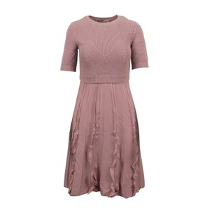 Valentino Wool Knit Midi A-line Fall Dress