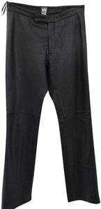For Joseph Leather Fit Leather Relaxed Pants Black