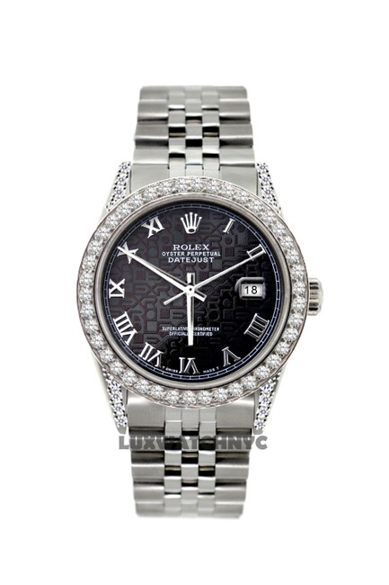 Rolex Black Jubilee Dial 5ct 36mm Datejust Stainless Steel with Appraisal Watch Rolex Black Jubilee Dial 5ct 36mm Datejust Stainless Steel with Appraisal Watch Image 1