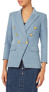 Veronica Beard Checked Coat Oversized Coat Sandro Womens Jean Jacket
