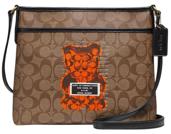 Item - Crossbody Limited Edition Vandal Gummy Brown/Black/Tan/Orange Leather/Canvas Satchel