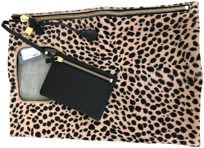 Item - Alix Leopard Calf Hair Shoulder Bag