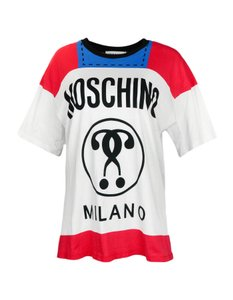Moschino Capsule Collection Logo T-shirt T Shirt Red, Blue, White
