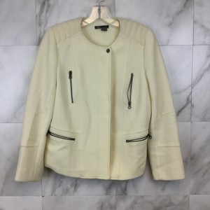 Vince Blazer Coat Spring Light White Motorcycle Jacket