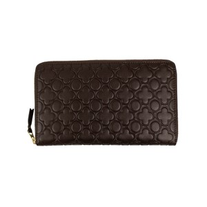 COMME des GARÇONS Leather Clover Embossed Travel Organizer Wallet