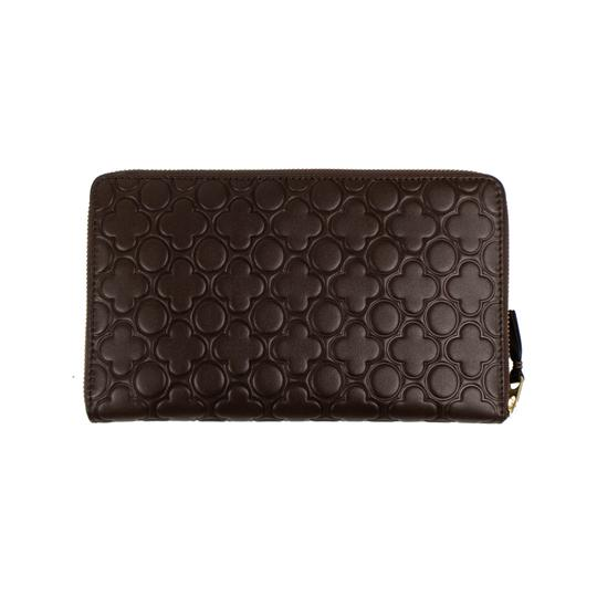 COMME des GARÇONS Leather Clover Embossed Travel Organizer Wallet Image 1