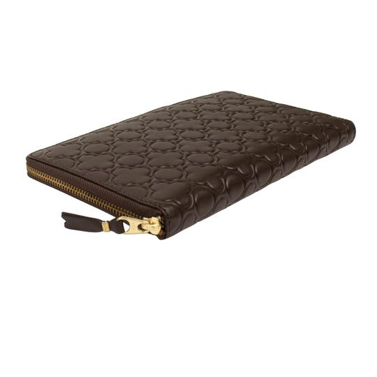 COMME des GARÇONS Leather Clover Embossed Travel Organizer Wallet Image 3