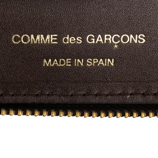 COMME des GARÇONS Leather Clover Embossed Travel Organizer Wallet Image 6