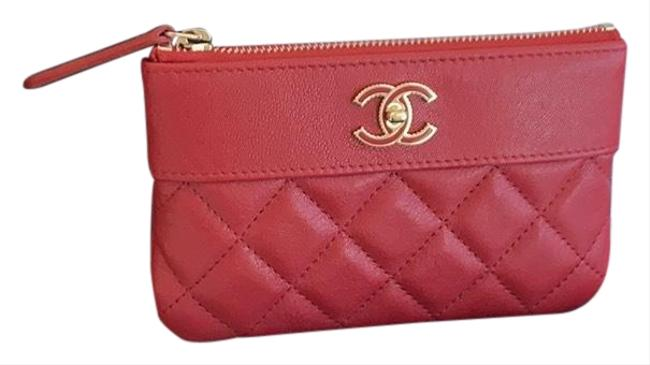 Chanel Red Mini O Case Wallet Chanel Red Mini O Case Wallet Image 1