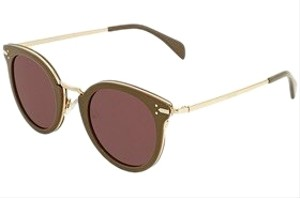 Céline Green Round Ladies Sunglasses CL40011U