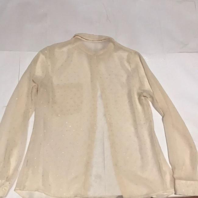 Forever 21 Button Down Shirt Cream Image 1