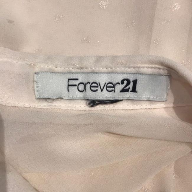 Forever 21 Button Down Shirt Cream Image 5