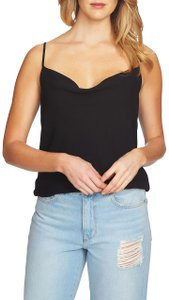 1.STATE Monochrome Cut-out Drape Lined Top Black