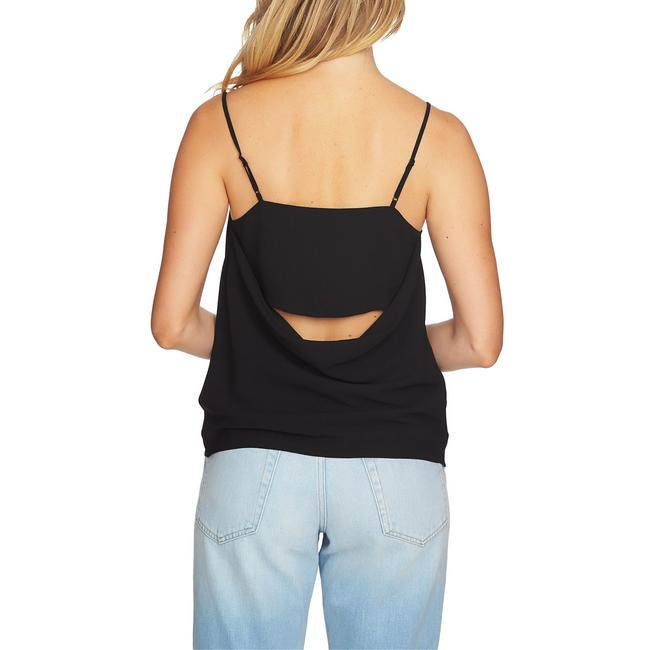 1.STATE Monochrome Cut-out Drape Lined Top Black Image 1