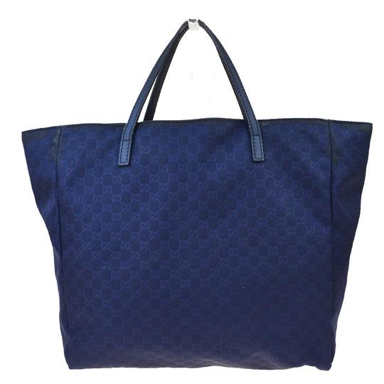 Gucci Tote in Navy Blue Image 3