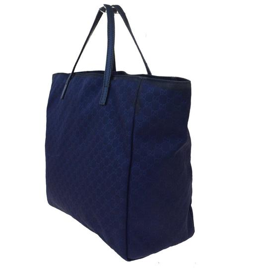 Gucci Tote in Navy Blue Image 4