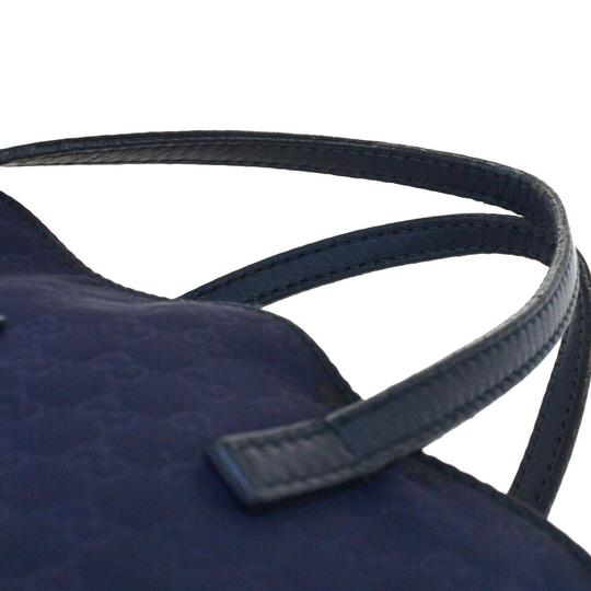 Gucci Tote in Navy Blue Image 6