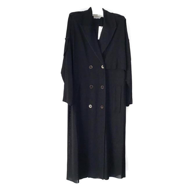 Preload https://img-static.tradesy.com/item/26055440/sonia-rykiel-black-fluid-coat-size-4-s-0-0-650-650.jpg