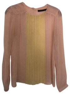 Zara Top pink and yellow