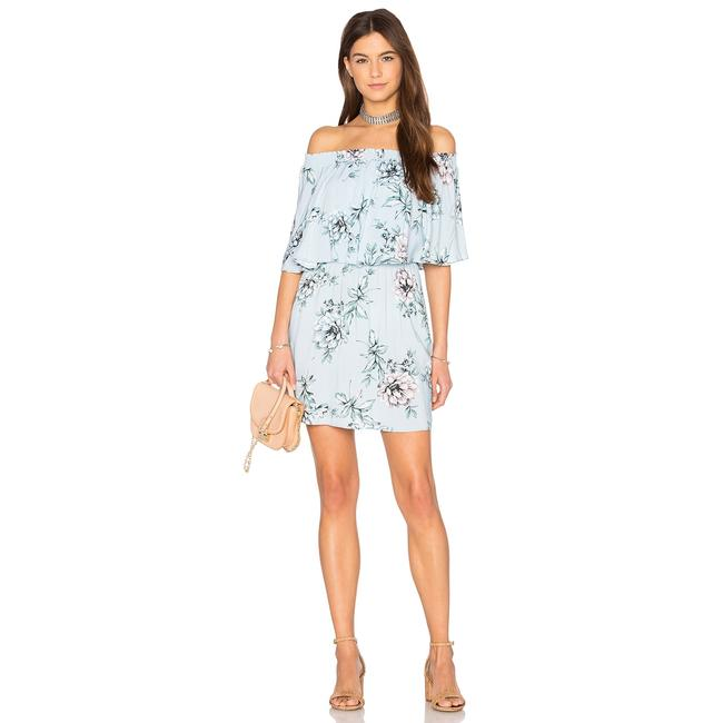 Show Me Your Mumu short dress Blue Floral Off The Shoulder Rayon Elastic on Tradesy Image 3