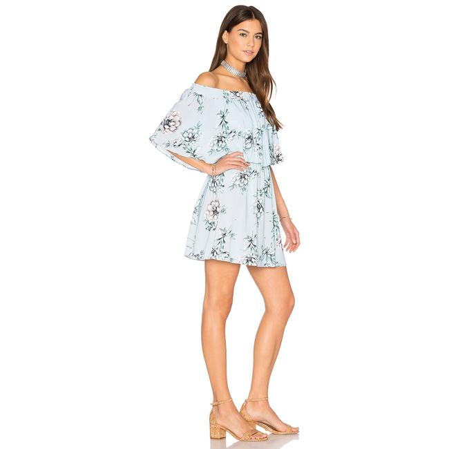 Show Me Your Mumu short dress Blue Floral Off The Shoulder Rayon Elastic on Tradesy Image 4