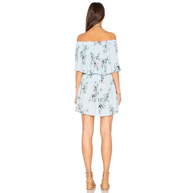 Show Me Your Mumu short dress Blue Floral Off The Shoulder Rayon Elastic on Tradesy Image 5