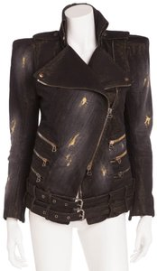 Balmain Vintage New Black with under tone gold Womens Jean Jacket