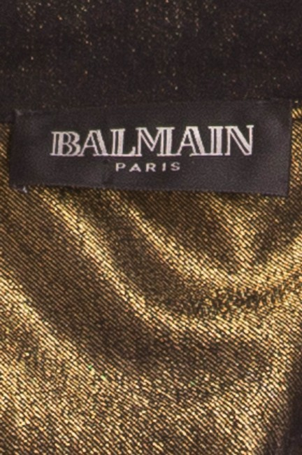 Balmain Vintage New Black with under tone gold Womens Jean Jacket Image 4