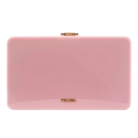 Prada Gucci Plastic Gold Flowers Pink Clutch Image 5