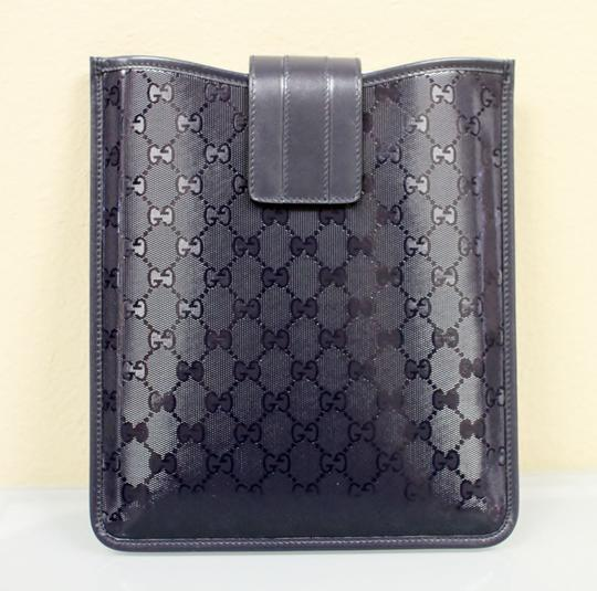 Gucci GUCCI GG Document/iPad/Tablet Case Navy Blue Imprime 256575 4009 Image 2