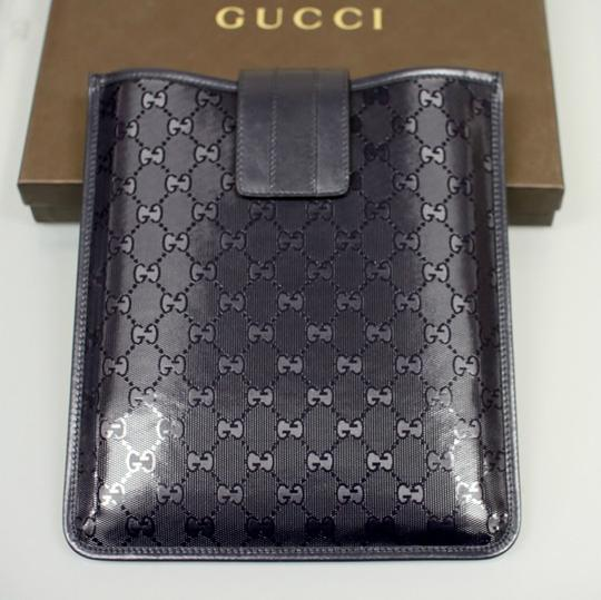 Gucci GUCCI GG Document/iPad/Tablet Case Navy Blue Imprime 256575 4009 Image 4