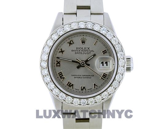 ROLEX 1.5ct Ladies 26mm Datejust Stainless with Appraisal Image 1