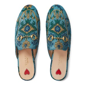 Gucci Blue Mules