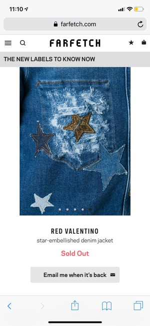 RED Valentino Womens Jean Jacket Image 2