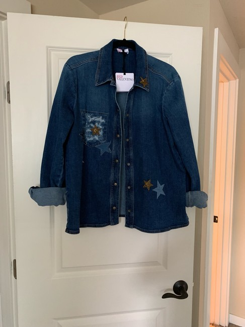 RED Valentino Womens Jean Jacket Image 3