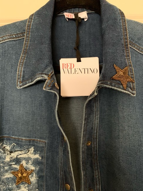 RED Valentino Womens Jean Jacket Image 4