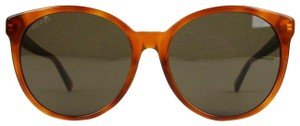Gucci Brown Mustard Acetate Round Sunglasses GG3833/F/S 056EJ 434093 2470