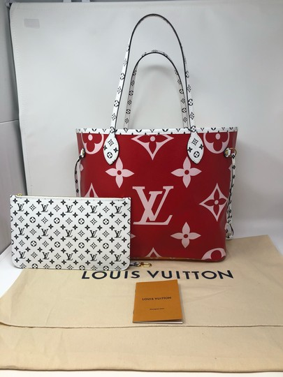 Louis Vuitton Neverfull Giant Monogram Neverfull Giant Neverfull Tote in Rouge Image 1