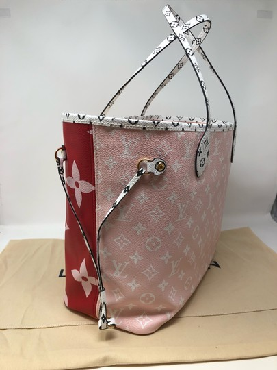 Louis Vuitton Neverfull Giant Monogram Neverfull Giant Neverfull Tote in Rouge Image 6