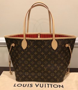 Louis Vuitton Neverfull Mm Neverfull Neverfull Monogram Neverfull With Pouch Neverfull Cherry Tote in Cerise
