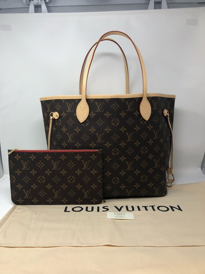 Louis Vuitton Neverfull Mm Neverfull Neverfull Monogram Neverfull With Pouch Neverfull Cherry Tote in Cerise Image 1