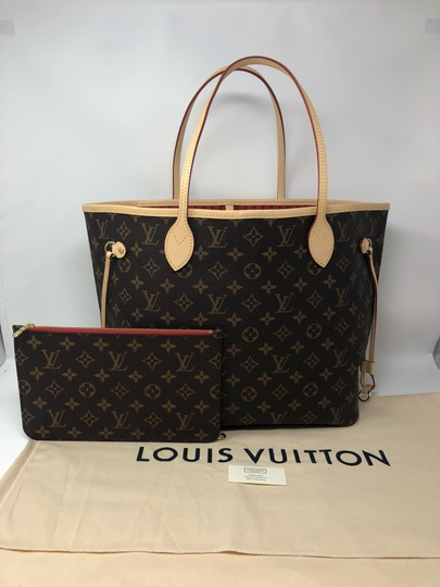 Louis Vuitton Neverfull Mm Neverfull Neverfull Monogram Neverfull With Pouch Neverfull Cherry Tote in Cerise Image 2